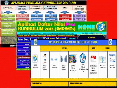 Download Aplikasi Penilaian Siswa Kurikulum 2013 SD, SMP, SMA