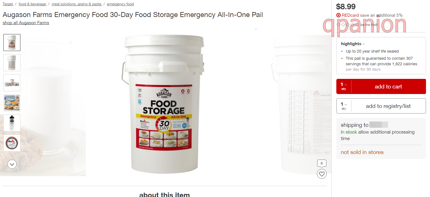 [OOS] *RUN* Target $8.99 Augason Farms Emergency Food 30-Day Food Storage Emergency All-In-One Pail 307 Servings!  sc 1 st  qpanion & OOS] *RUN* Target: $8.99 Augason Farms Emergency Food 30-Day Food ...
