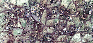 abstract photography deserts of Africa from the air,