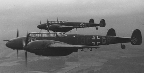 22 March 1940 worldwartwo.filminspector.com Bf 110 night fighters