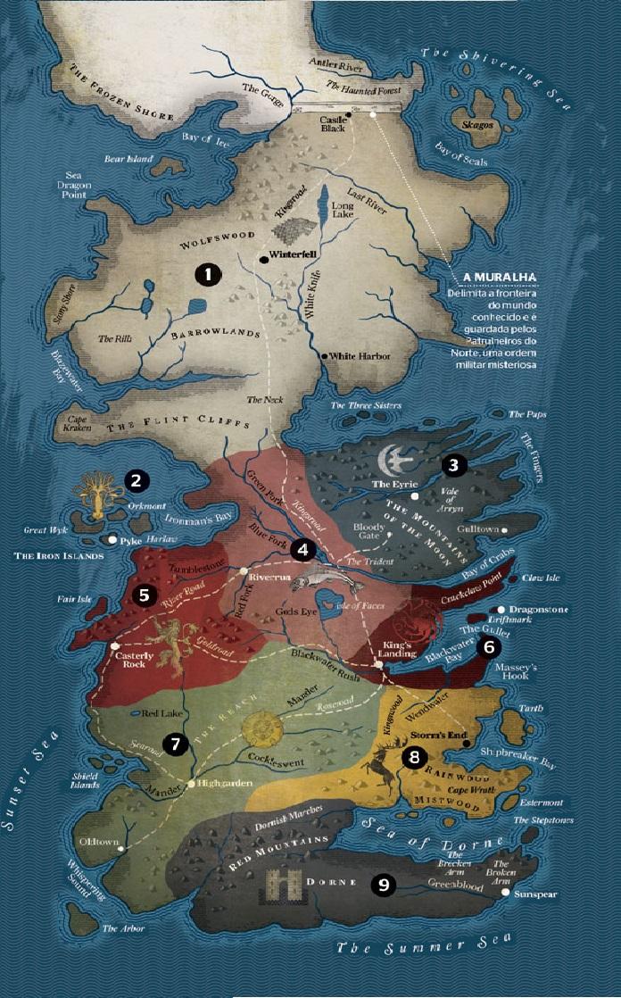 El Rincon De Lord Snow Mapa De Game Of Thrones