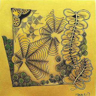 Tangle pattern refresher #16 Wist, Lotsadots, Printemps, Lotus Pods, Echo