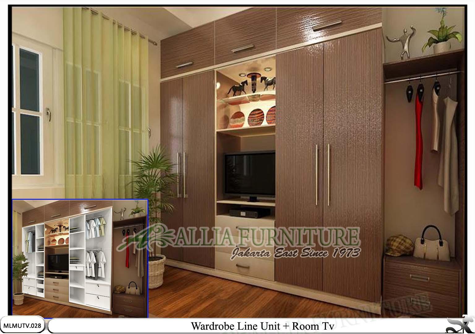 Kombinasi Warna Cat Lemari Interior Rumah Pakaian Medium Motif Baju Minimalis Modern Tv Line Allia Furniture
