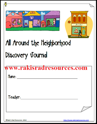 Neighborhood Discovery Journal - Free download from Raki's Rad Resources