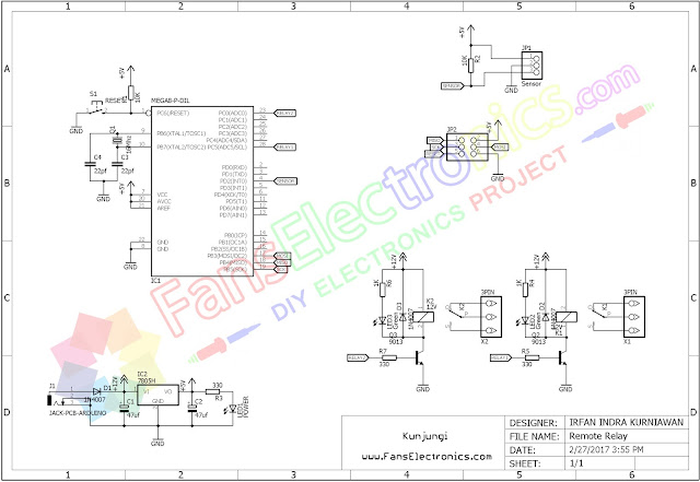 skematik remote relay arduino