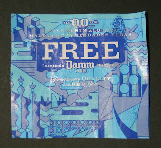 etiqueta del botellín de la cerveza 0,0 free damm