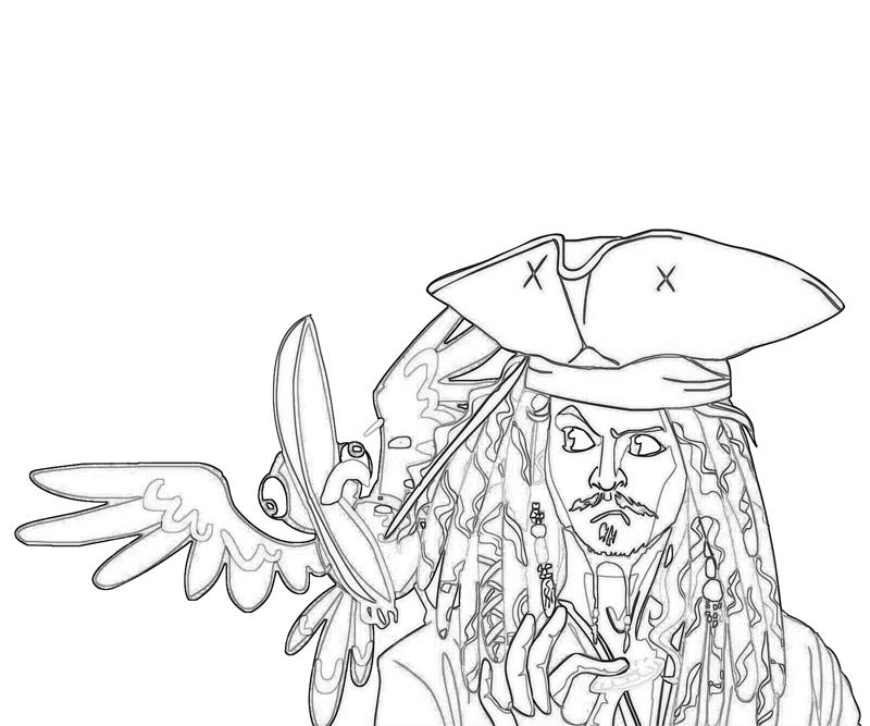 coloring pages jack sparrow - photo#11