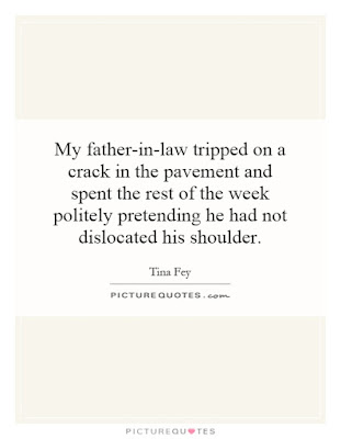 Happy Birthday  wishes quotes for father-in-law: my father in law tripped on a crack in pavement