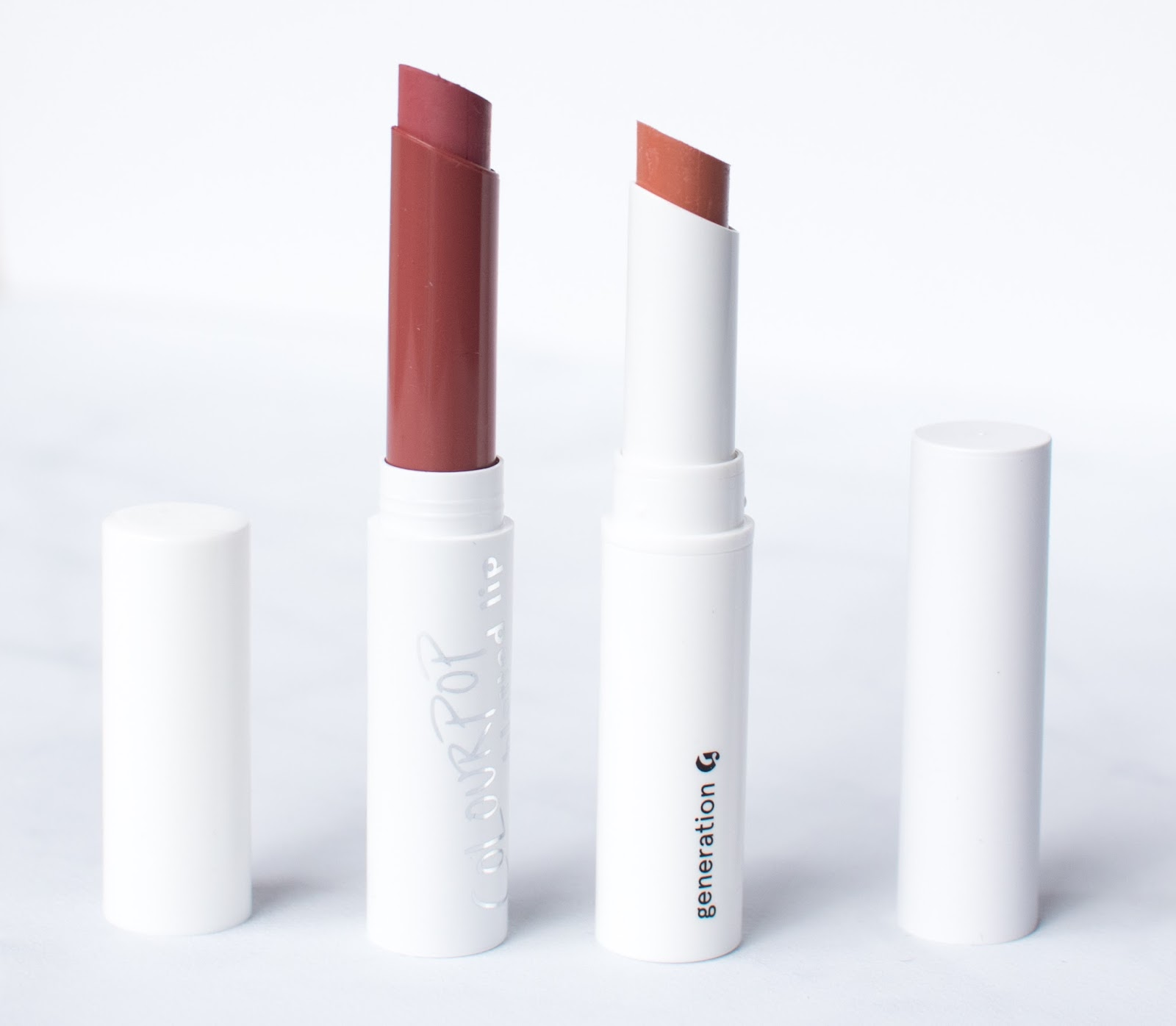 Colourpop Blotted Lip vs Glossier Generation G Lipstick Comparison