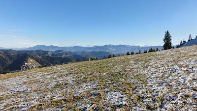 Oberhohmatt mit Alpen