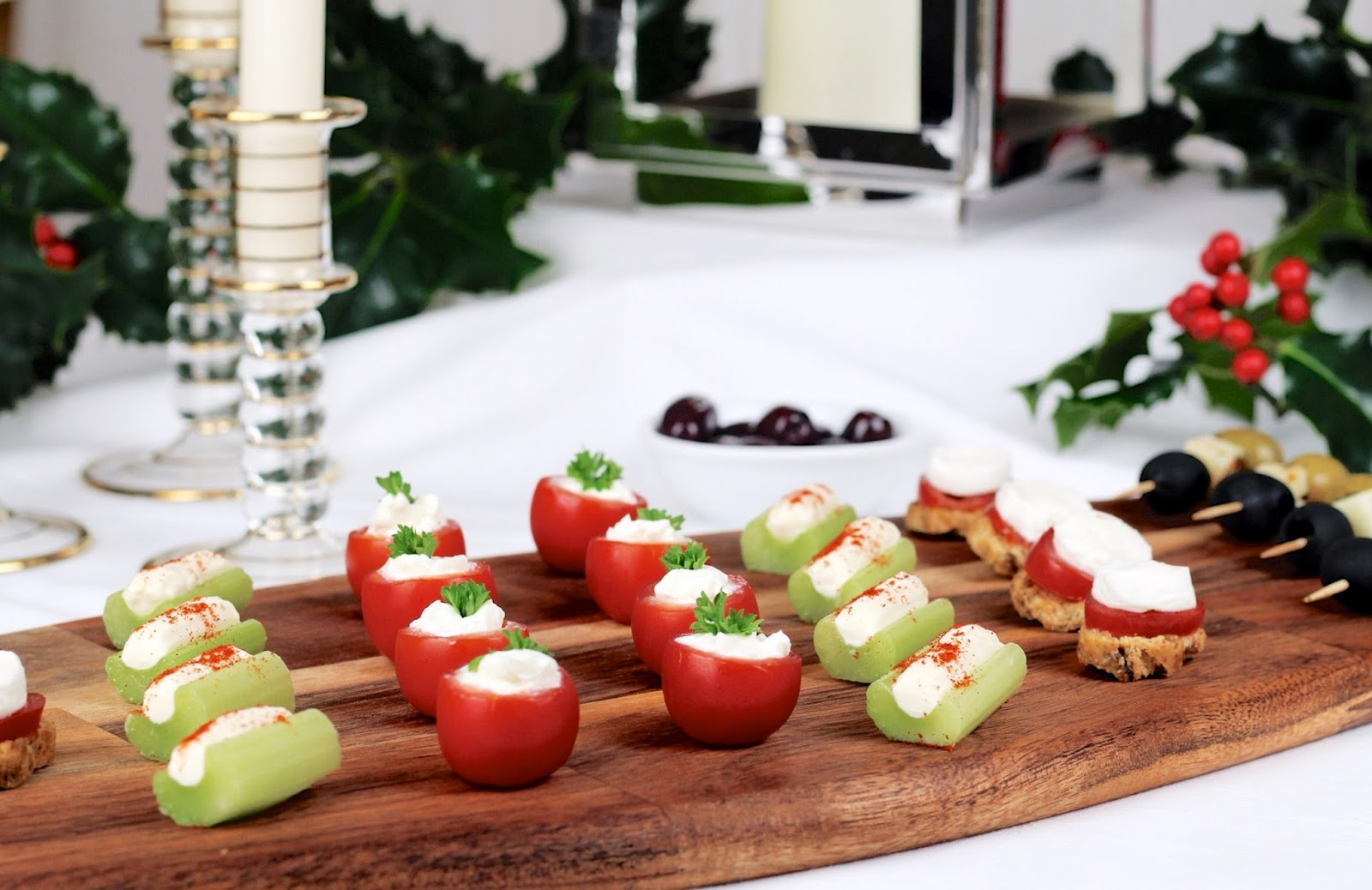 Festive party quick and easy appetizers