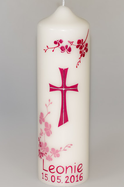 Konfirmation Orchideenkerze Sp Kerzen Sannis Kerzen Nach
