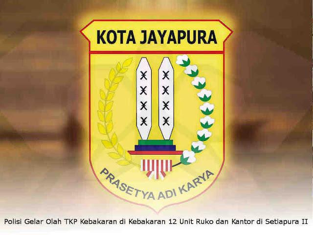 Polisi Gelar Olah TKP Kebakaran di Kebakaran 12 Unit Ruko dan Kantor di Setiapura II