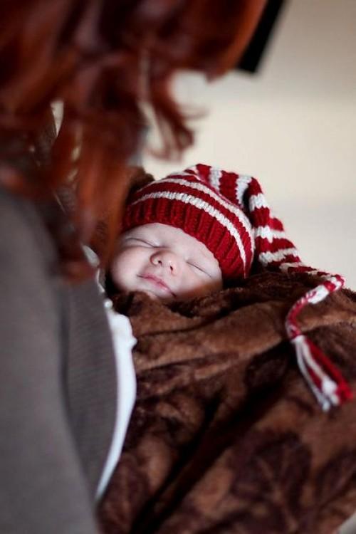 Newborn Long Tail Hat - Free Pattern