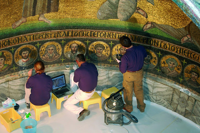 Collaborative conservation of the Apse Mosaic of the Transfiguration in the Basilica at St. Catherine's Monastery