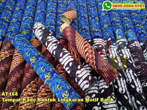 Jual Tempat Kado Bentuk Lingkaran Motif Batik