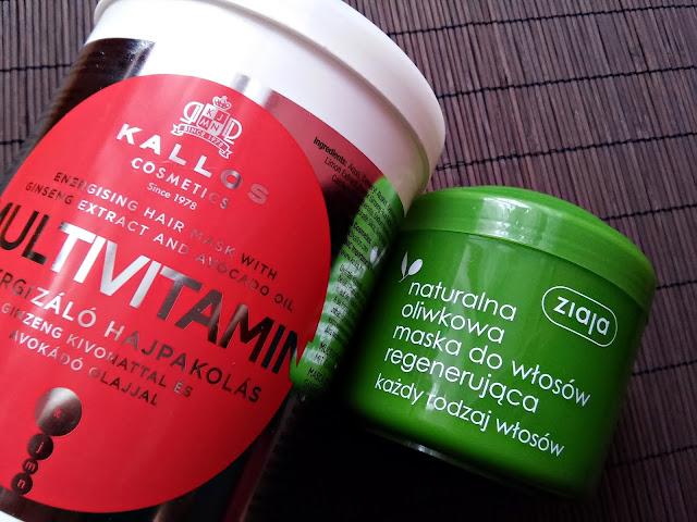 plan pielęgnacji włosów na listopad 2016, maski do włosów, Kallos, Ziaja