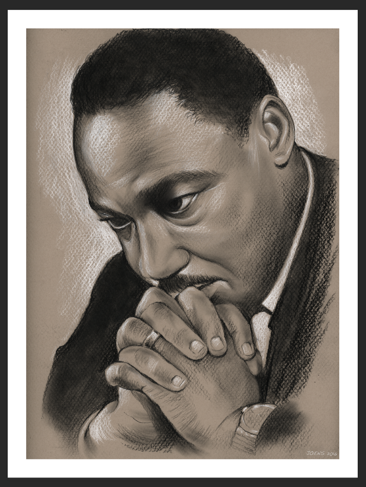 This is a photo of Sly Drawing Of Martin Luther King
