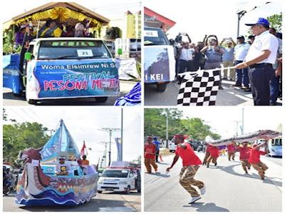 Anderias Rentanubun Buka Karnaval Budaya Jelang Festival Pesona Meti Kei ke 3