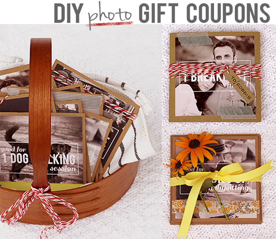 DIY Photo Gift Vouchers // Bubby & Bean
