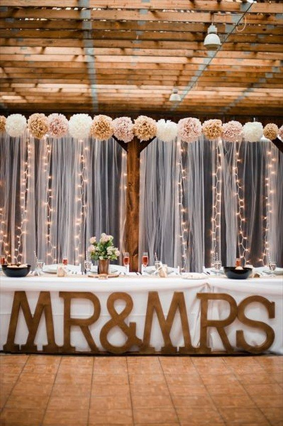 Beautiful Bridal: Rustic Mr and Mrs Wedding Table Decorations