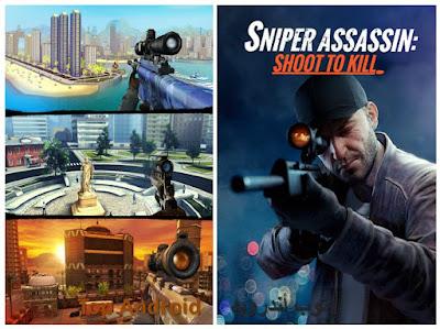 تحميل لعبة Sniper 3D Assassin مهكرة من ميديا فاير اخر اصدار
