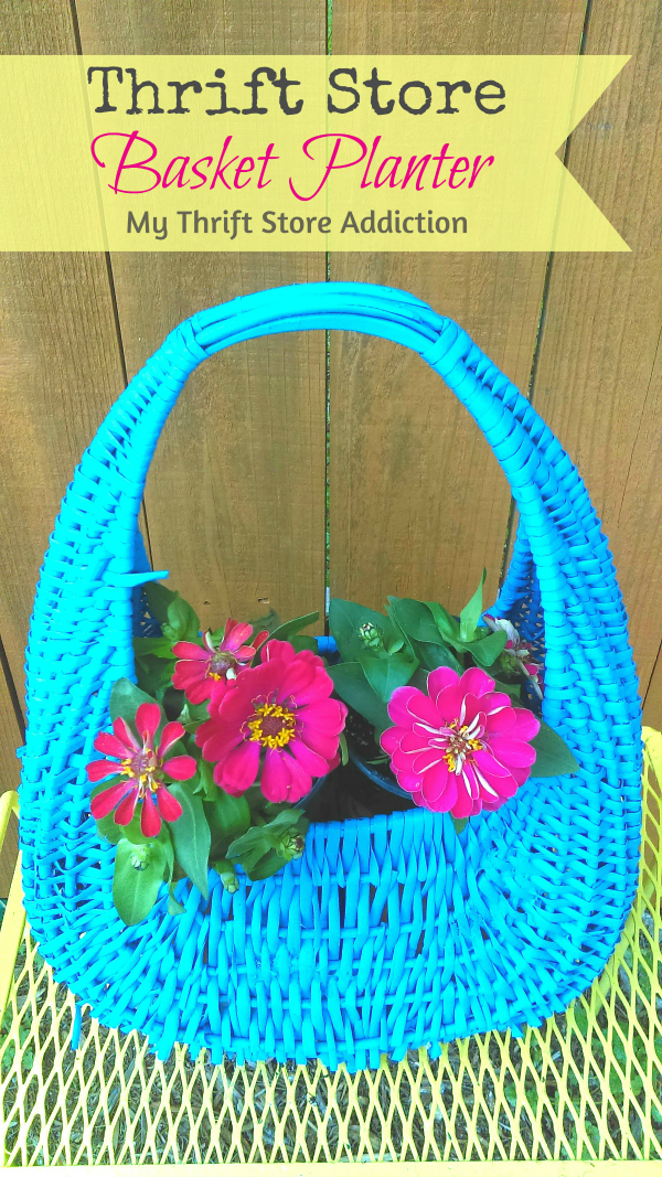 The 15 Minute Fix: Thrift Store Basket Planter mythriftstoreaddiction.blogspot.com  Turn a drab thrift store basket into a pretty planter in less than 15 minutes!
