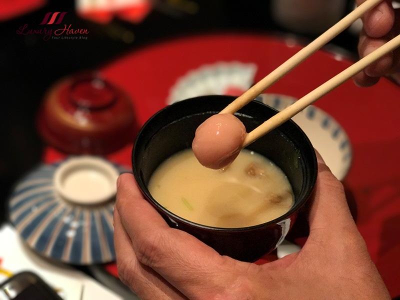 soujuan kaiseki cuisine japanese white miso soup