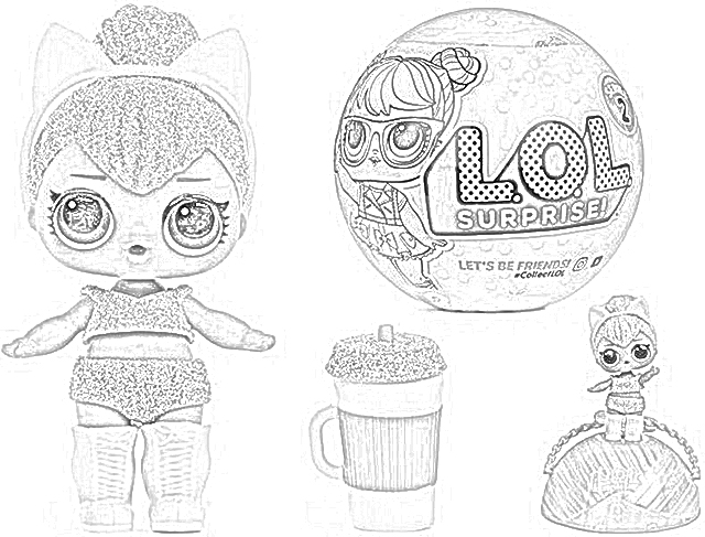 Lol Glam Glitter Coloring Pages Coloring And Drawing