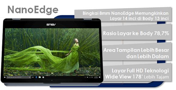 Layar NanoEdge Vivobook Flip TP410