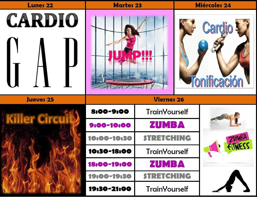 Circuito Quemagrasas : Sbelta gym: rutina semanal