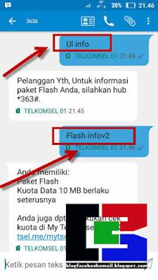 cara cek sisa kuota paket telkomsel lewat sms