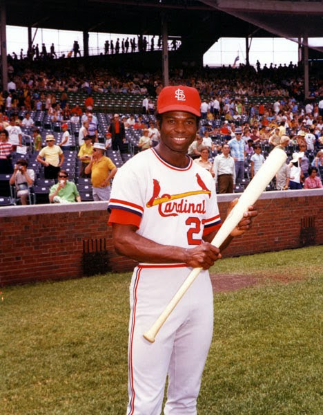 St. Louis Cardinals' Lou Brock Sets MLB Career Stolen Base Record