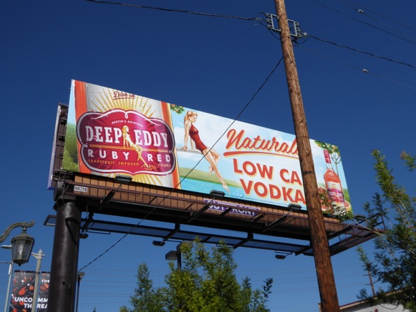 Deep Eddy Naturally Low Cal Vodka billboard