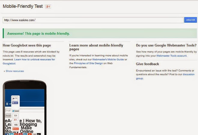 Mobile Usability As A Ranking Factor In Mobile Search Results : eAskme