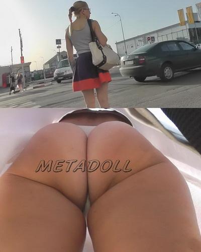 Sexy college girls - Spycam upskirt of girls on the bus stop. Hidden camera upskirts in subway (100Upskirt 5183-5228)
