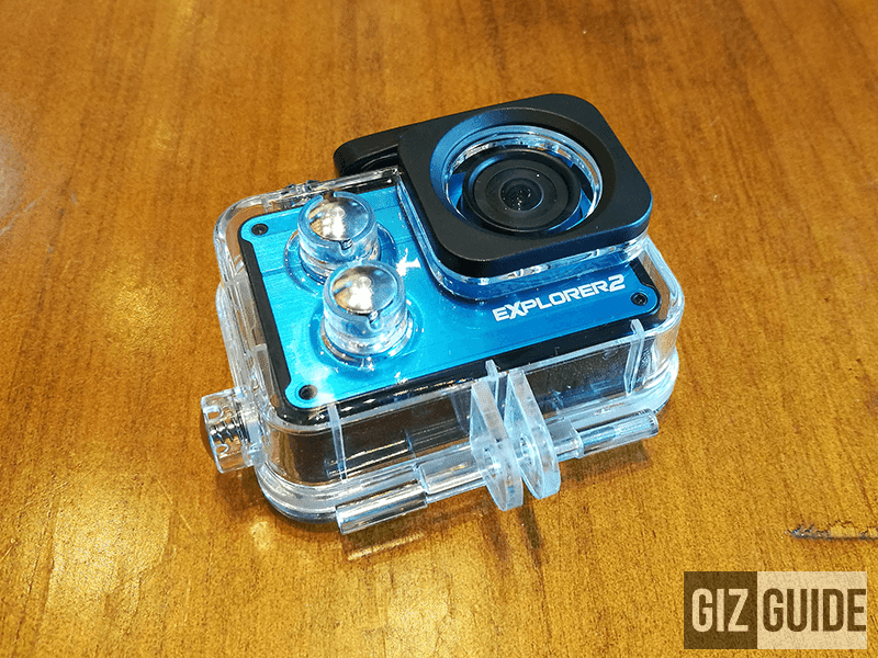 The waterproof case of the camera