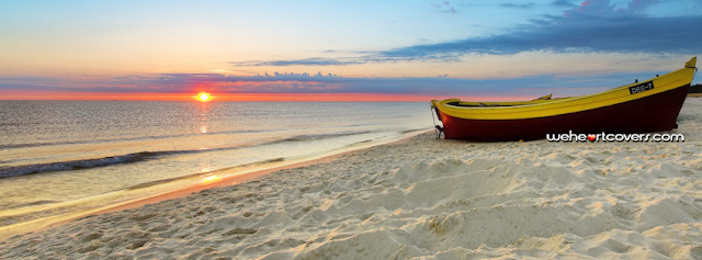 Boat on the Beach Facebook Covers - Weheartcovers.com