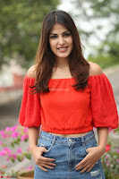 Rhea Chakraborty in Red Crop Top and Denim Shorts Spicy Pics ~  Exclusive 244.JPG