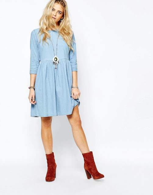 Spring/Summer Capsule Wardrobe: Five Dresses for Play from Honey and Smoke Studio // Boohoo Oversized Denim Smock Dress from ASOS