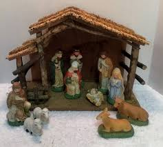 Home interior nativity set