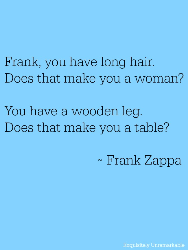 Frank Zappa Long Hair Quote
