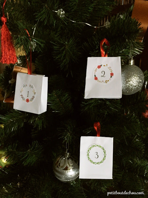 Advent calendar tags free printable