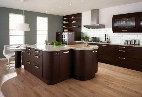 cocina marrón chocolate
