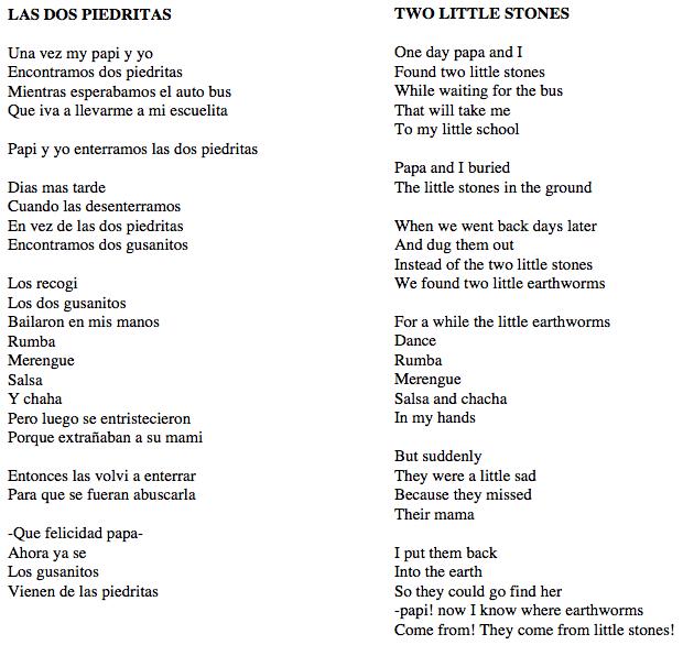 Short Spanish Poems With English Translation 6