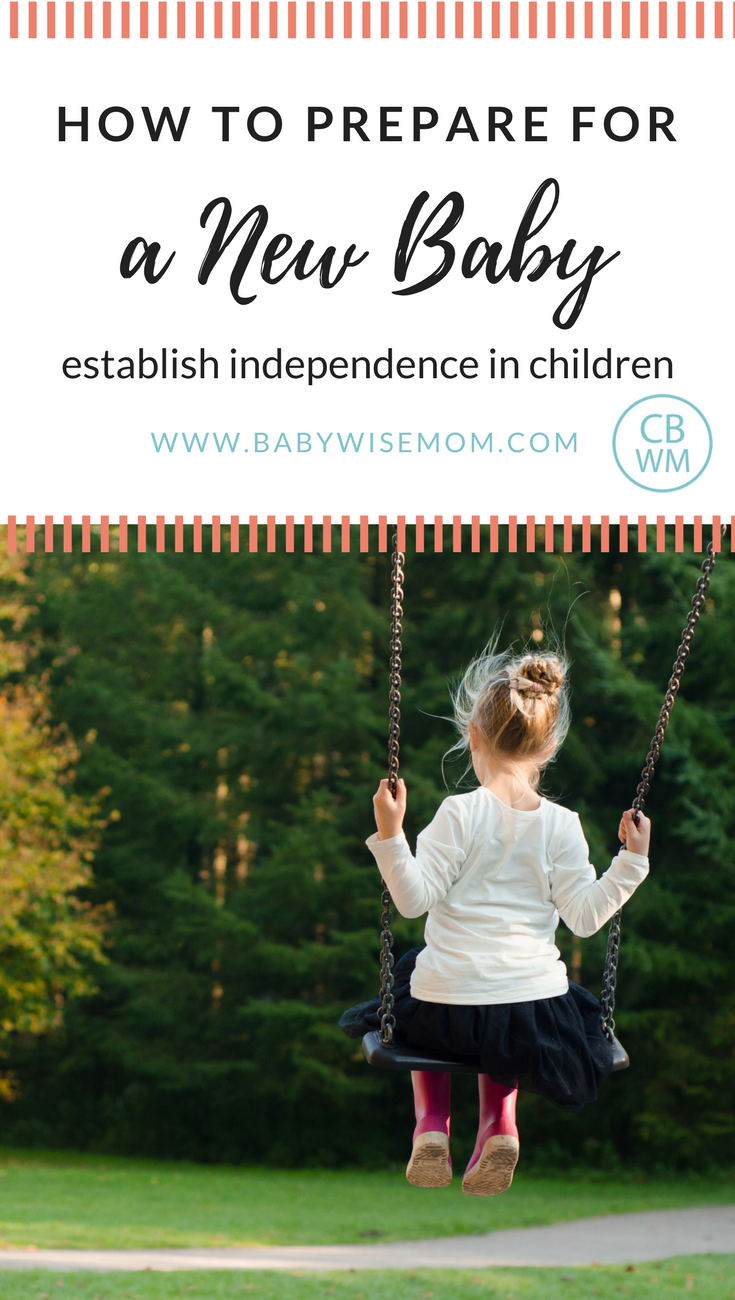 How to Prepare for a New Baby: Establish Independence in Children. How to get siblings prepared for a new baby.