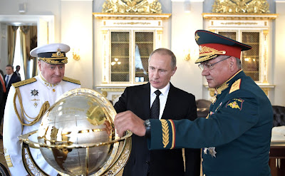 Vladimir Putin visited Admiralty building.