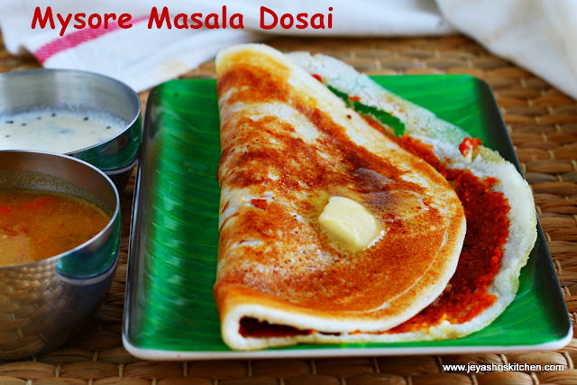 Mysore masala dosai recipe south indian recipes jeyashris kitchen mysore masala dosai forumfinder Gallery