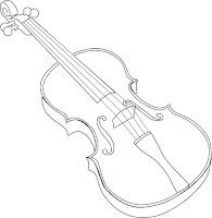 דף צביעה כינור