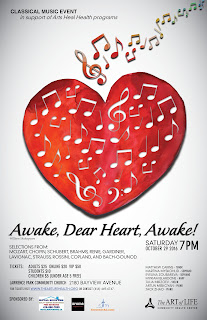 "Classical Music Concert ""Awake, Dear Heart, Awake"" TAOL Health poster"